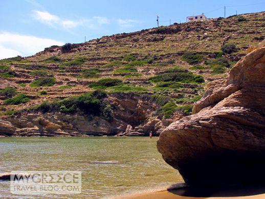 Kolitsani beach on Ios