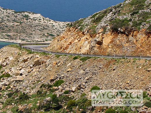 Amorgos mountain highway