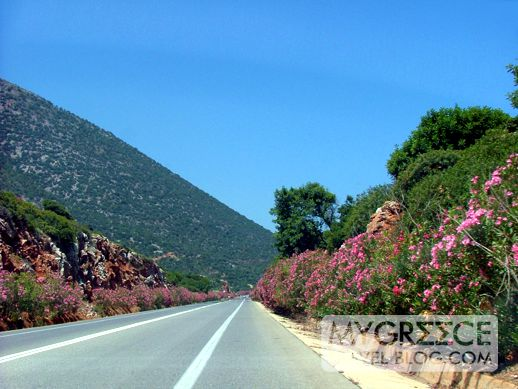 the main highway on the north coast of Crete
