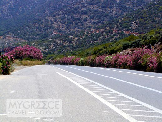 a highway on Crete