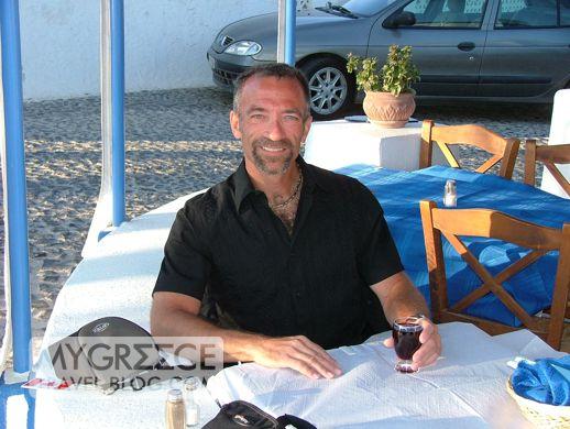 Donny at Aktaion taverna Santorini