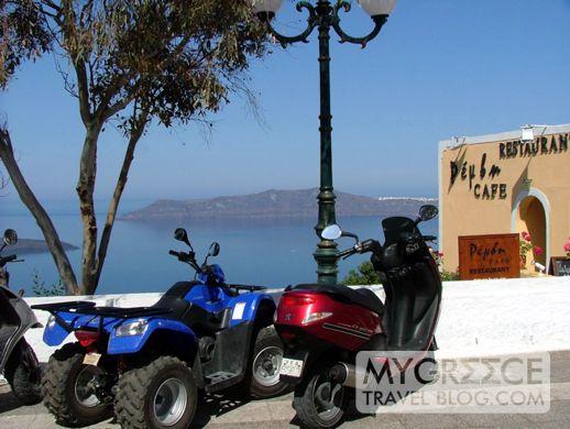 Firostefani square on Santorini