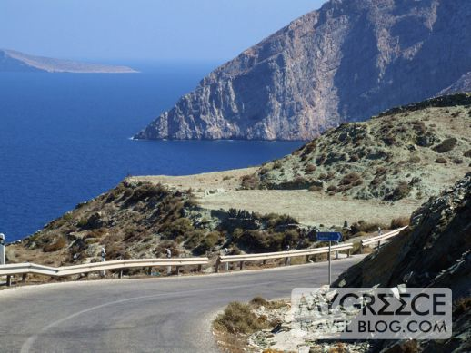 highway on Folegandros