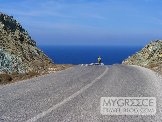 highway between Chora and Ano Mera on Folegandros