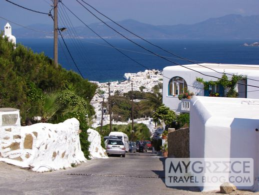 a road on Mykonos
