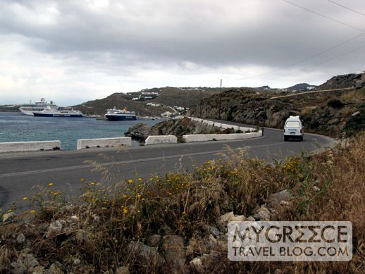 Mykonos road