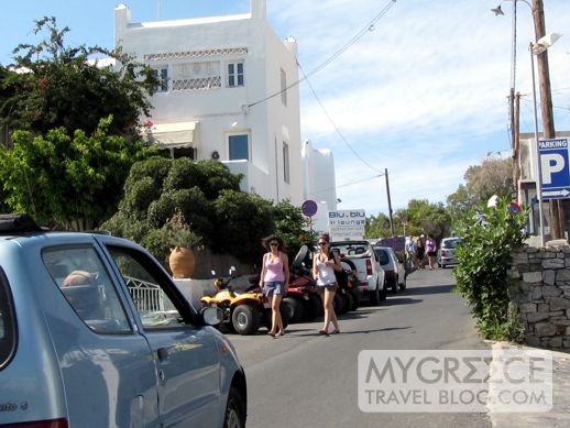 a road near the Old Port on Mykonos