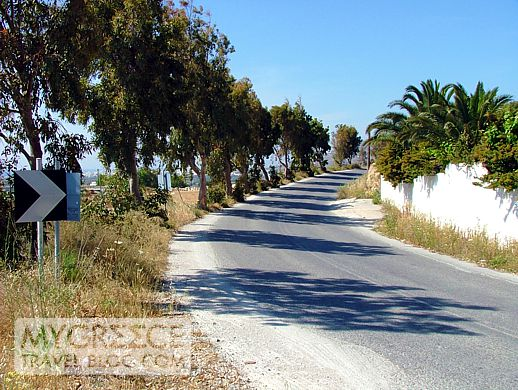 a highway on Naxos