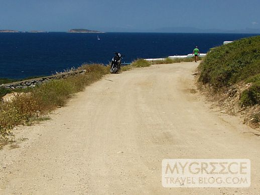 A road in the Stelida area of Naxos