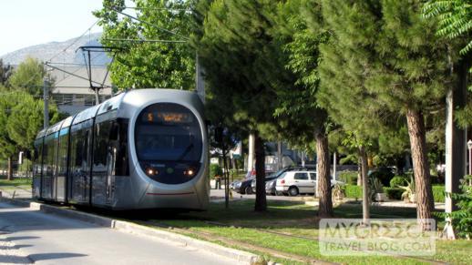 Athens tram line in Glyfada
