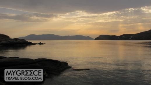 sunset at Ios Greece