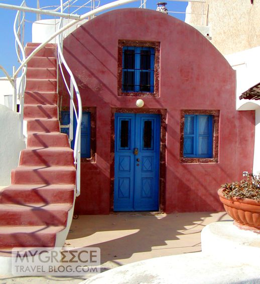 a house in Oia Santorini