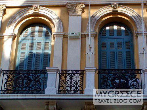 balconies in Heraklion Crete