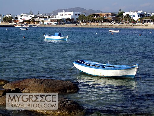 Agia Anna bay on Naxos