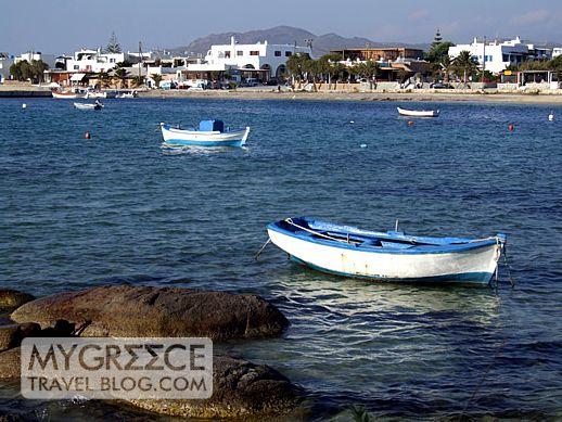 Agia Anna bay on Naxos