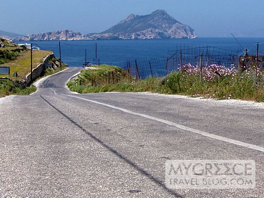 highway on Amorgos