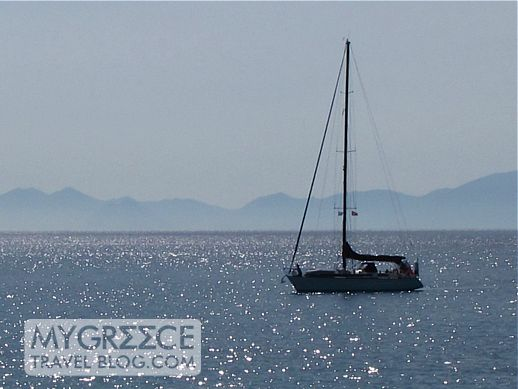 sailboat near Koufonissi island Greece