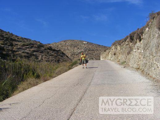 Agkali beach road Folegandros