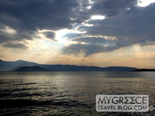 stormclouds passing over Paros