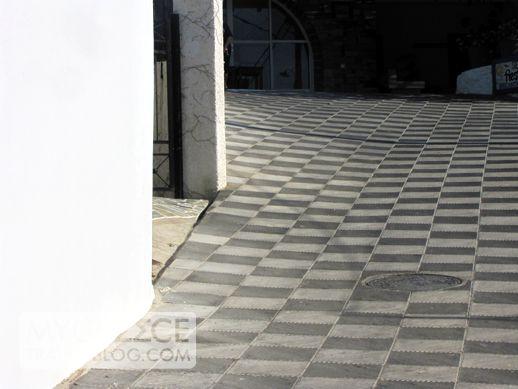 a walkway in Ios