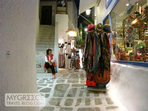 a shopkeeper in Chora on Ios