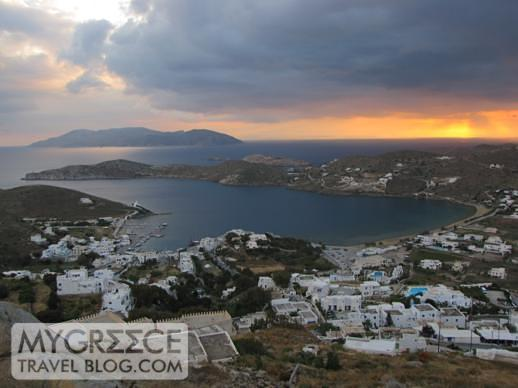 Yialos port and harbour at sunset