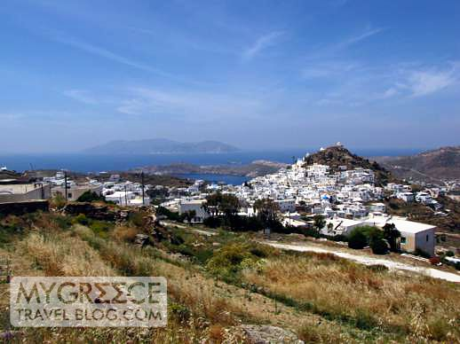 Chora and nearby Sikinos island
