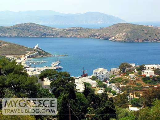 Yialos on Ios and nearby Sikinos island