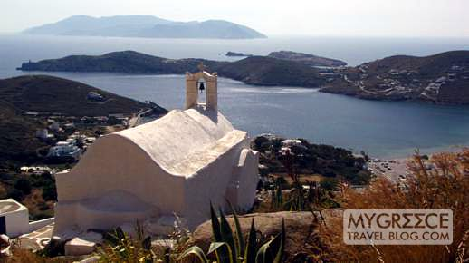 views from a church above Chora on Ios
