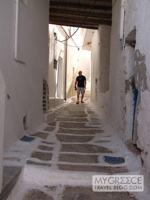 a street in Chora on Ios