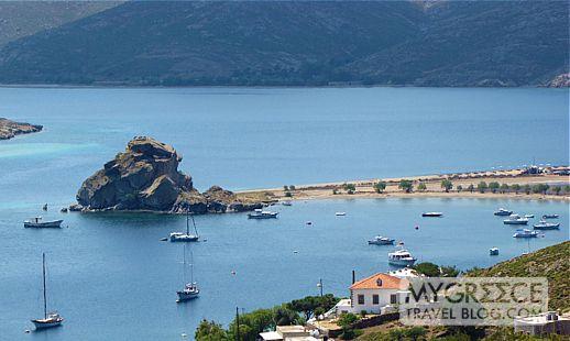 Kalikatsou Rock between Grikos and Petra Bay on Patmos