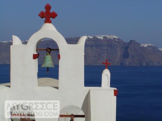 church in Oia village on Santorini