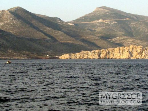 Early morning view of Amorgos