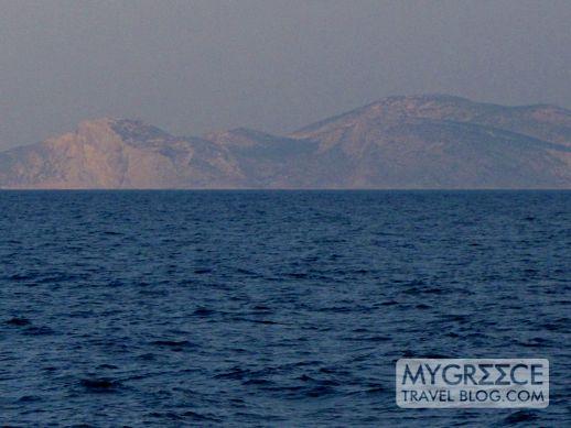 Amorgos island viewed at sunrise