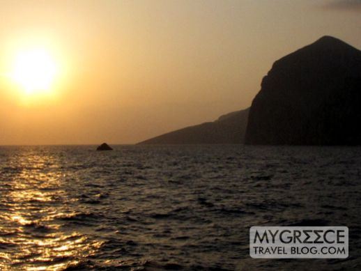 Sunrise at Amorgos Greece