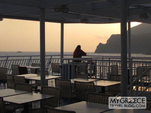 Watching the sun rise at Amorgos
