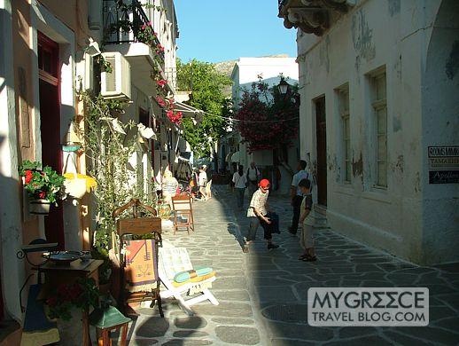 a street in Paroikia on Paros