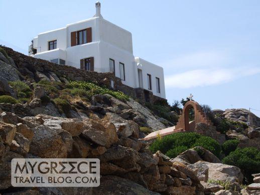 A house at Super Paradise beach on Mykonos