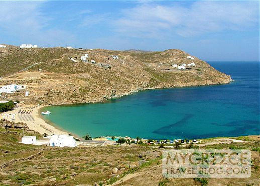 Super Paradise beach and bay on Mykonos
