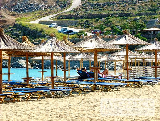 Super Paradise beach on Mykonos