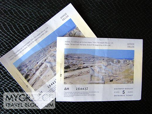 Delos island admission tickets