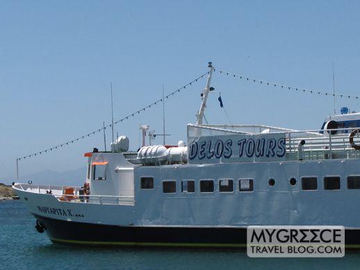 Delos excursion boat Margarita