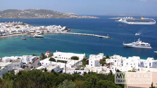 Mykonos Town harbour and Old Port