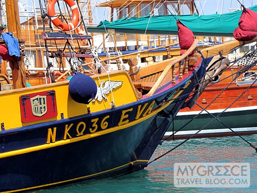 Eva excursion boat at Kos harbour