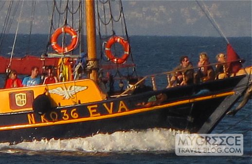Eva excursion boat returning to Kos harbour
