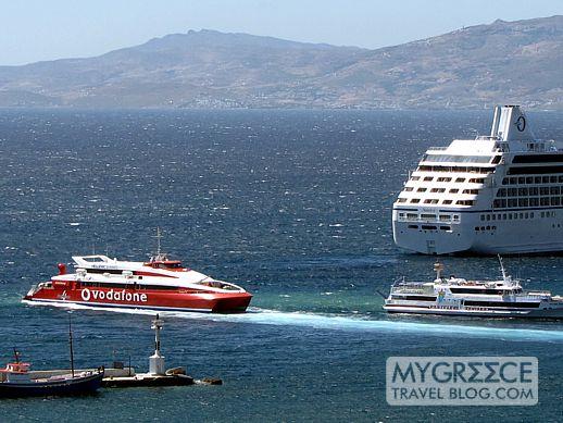 Flyingcat4 departing Mykonos Old Port