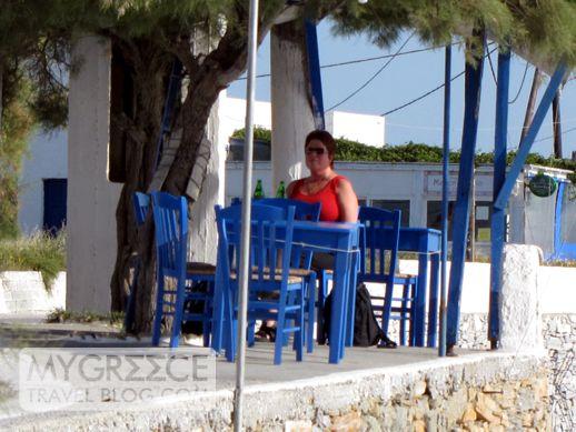 Fotis Taverna at Agios Prokopios beach Naxos