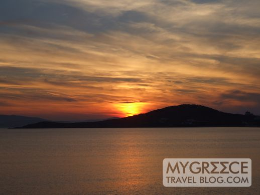 Fotis Taverna sunset view