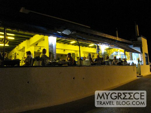 Night view of Fotis Taverna