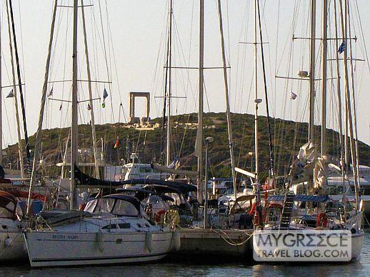 Naxos Town harbour